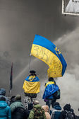 KIEV, UKRAINE - January 25, 2014: Mass anti-government protests — ストック写真