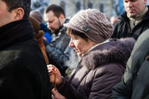 Requiem on Euromaidan activist Michail Zhiznevsky — ストック写真