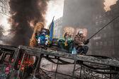 KIEV, UKRAINE - January 25, 2014: Mass anti-government protests — Stock Photo