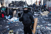 KIEV, UKRAINE - January 26, 2014: Mass anti-government protests — Foto Stock
