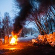 Stock Photo: KIEV, UKRAINE - January 26, 2014: Euromaidprotesters rest and