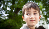 Serious little boy — Stock Photo