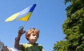 Anti Putin meeting in support of Ukraine's unity — Stock Photo