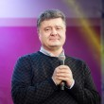 ������, ������: Ukrainian presidential candidate Petro Poroshenko speaks at elec
