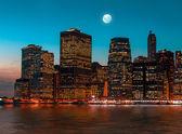 Manhattan at night — Stock Photo