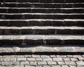 Grungy stone stairway — Stock Photo