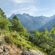 View of High Tatra Mountains from hiking trail. — Stock Photo