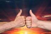 Thumbs up sign — Stock Photo