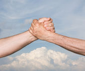 Shaking hands — Stockfoto