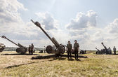 Artillery of the armed forces of Ukraine. — Stock Photo