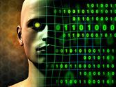 Dijital insan — Stok fotoğraf