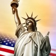 Liberty statue - Stock Photo