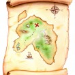 Treasure map - Stock Photo