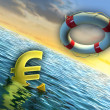 Sinking euro — Stock Photo #12735165