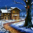 Christmas landscape - Stock Photo