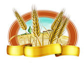 Wheat label — Stock Photo