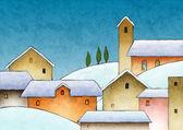Christmas watercolor — Stock Photo