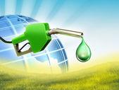 绿色燃料 — 图库照片