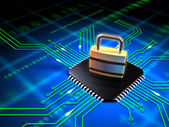 Gesicherte mikrochip — Stockfoto