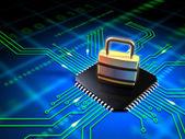 Zabezpieczone mikroprocesor — Zdjęcie stockowe