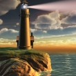 Stock Photo: Lighthouse at sunset
