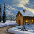 christmas landscape — Stock Photo