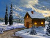Kerstmis landschap — Stockfoto