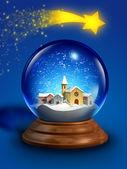 Glass snow ball — Stock Photo