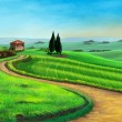 Country landscape - Stock Photo