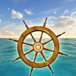 Rudder wheel - Stock Photo