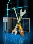 Computer fixing — Stock Photo