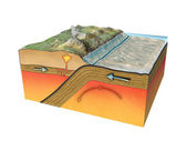 тектонические плиты — Стоковое фото