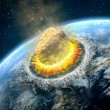 Stock Photo: Asteroid impact