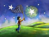 Chasing stars — Stock Photo