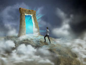 Dimensional gate — Stock Photo