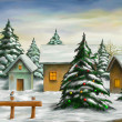 Christmas landscape — Stock Photo #35873597