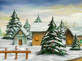 Jul landskap — Stockfoto