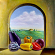 Vegetables by the window — Stock Photo #38577423