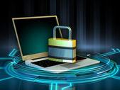 Laptop protection — Stock Photo