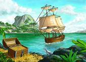 Pirate island — Stock Photo