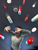 Drugs attack — Stock Photo