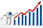 Robot business strategy — Stock Photo