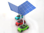 Solar panel for cars — Stock Photo