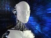 Sfondo computer con android robot — Foto Stock
