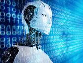 Fondo de computadora robot — Foto de Stock