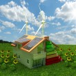 Стоковое фото: House energy saving concept