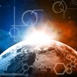 Planet earth technology background — Stock Photo #25293943
