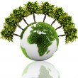 Green Earth Globe with grass — Stock Photo