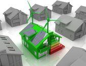 Huis energiebesparing concept — Stockfoto