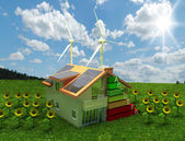 House energy saving concept — Stockfoto